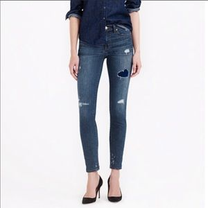 NWOT J.Crew distressed toothpick jeans, size 28